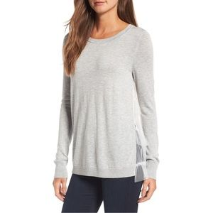 Nordstrom Chelsea28 Gray Tulle Back Sweater